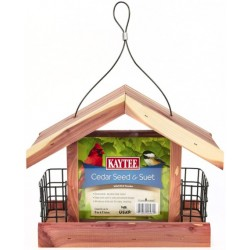 Kaytee Handcrafted Cedar Seed And Suet Feeder with Easy Fill Design  Image