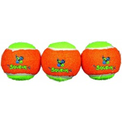 Spunky Pup Squeak Tennis Balls Dog Toy Image