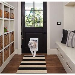 Ideal Pet Products Deluxe White Aluminum Pet Door Medium  Image