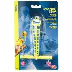 Living World Plastic Spray Millet Holder with Bells Image