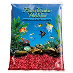 Pure Water Pebbles Aquarium Gravel - Currant Red Image