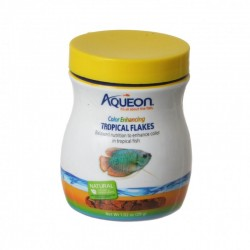 Aqueon Color Enhancing Tropical Flakes Fish Food Image
