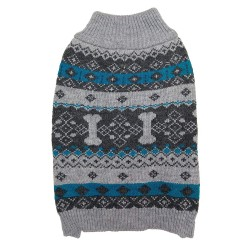 Fashion Pet Nordic Knit Dog Sweater - Gray Image