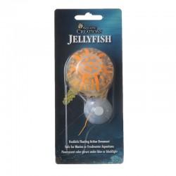 Aquatic Creations Glowing Jellyfish Aquarium Ornament - Orange Image