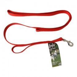 Loops 2 Double Nylon Handle Leash - Red Image