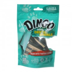 Dingo Dental Spirals Fresh Breath Dog Treats Mini - 21 Pack Image