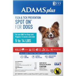 Adams Flea And Tick Prevention Spot On For Dogs 5-14 lbs Small 3 Month Supply  Image
