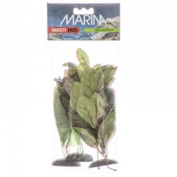 Marina EcoScaper Silk Aquarium Plant Variety Pack - Echinodorus, Nuphar Japonica & Lobelia Cardinalis Image