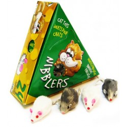 Hagen Cat It Deluxe Small Fur Mouse Display - 24 Count Image