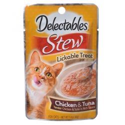 Hartz Delectables Stew Lickable Treat for Cats - Chicken & Tuna Image