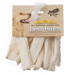 Rawhide Brand Eco Friendly Beef Hide Flat Spiral Rolls - Natural Image