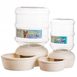 Aspen Pet Le Bistro Gravity Pet Waterer - Linen Image