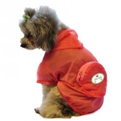 Pet Life Thunder-Paw Waterproof Travel Dog Raincoat - Orange Image