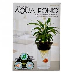 Penn Plax Nature's Aqua-Ponic Planter & Fish Habitat Image