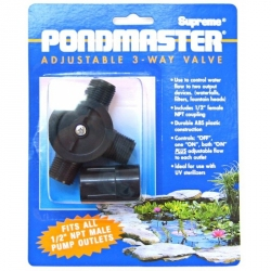Pondmaster Adjustable 3- Way Flow Diverter Valve Image