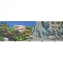Blue Ribbon Tree Trunks/freshwater White Rocks Double Sided Aquarium Background Image