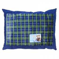 Plaid Pillow Bed Image