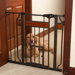 Carlson Design Paw Extra Tall Expandable Pet Gate with Door Image
