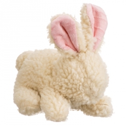 Vermont Style Fleecy Dog Toy - Rabbit Image