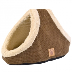 Precision Pet Snoozzy Natural Surroundings Hide & Seek Pet Bed - Coffee Image