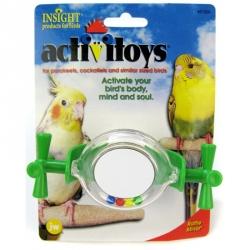 JW Insight Rattle Mirror Bird Toy Image