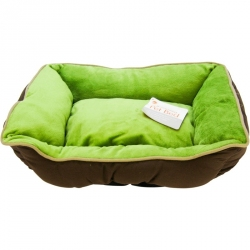 K&H Self-Warming Lounge Sleeper - Mocha & Green Image