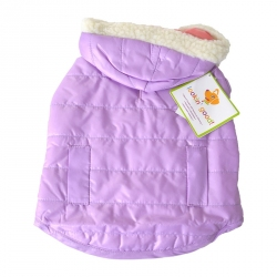 Lookin Good Reversible Puffy Dog Coat - Lilac Image