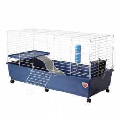 Kaytee My First Home Deluxe Rabbit 2-Level Cage with Wheels Image