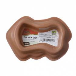 Zilla Durable Dish for Reptiles - Brown Image