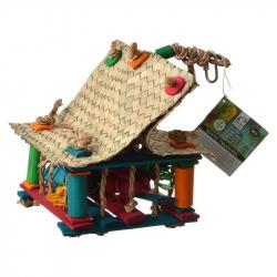 Hari Rustic Treasures Foraging Rope House Bird Toy Image