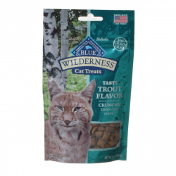 Blue Buffalo Wilderness Crunchy Cat Treats Tasty Trout Flavor Image