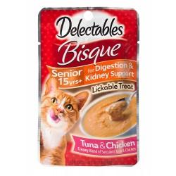 Hartz Delectables Bisque Senior Cat Treats - Tuna & Chicken Image