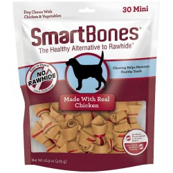 SmartBones Mini Vegetable and Chicken Bones Rawhide Free Dog Chew Image