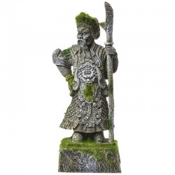 Exotic Environments Thai Warrior Statue with Moss Ornament Image