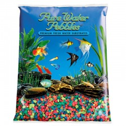 Pure Water Pebbles Aquarium Gravel - Neon Rainbow Image