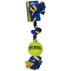 Petsport Giant 3-Knot Rope with Tuff Ball Image