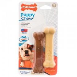 Nylabone Puppy Chew Petite Twin Pack - Chicken & Peanut Butter Nylon Chews Image