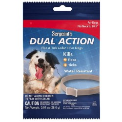 Sergeants Dual Action Flea and Tick Collar II for Dogs Neck Size 20.5