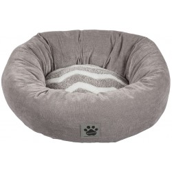 Precision Pet Snoozz ZigZag Donut Pet Bed Gray And White  Image