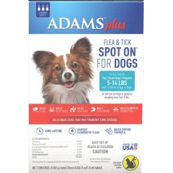 Adams Plus Flea and Tick Spot On for Small Dogs 5-14 lbs Image