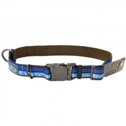K9 Explorer Reflective Adjustable Dog Collar - Sapphire Image