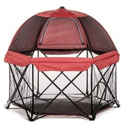 Carlson Six Panel Deluxe Pen with Canopy - Red Image