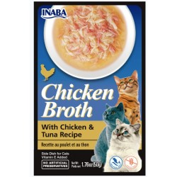 Inaba Chicken Broth with Chicken and Tuna Recipe Side Dish for Cats Image