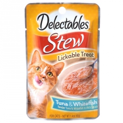 Hartz Delectables Stew Lickable Treat for Cats - Tuna & Whitefish Image
