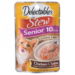 Hartz Delectables Stew Senior Lickable Treat for Cats - Chicken & Tuna Image