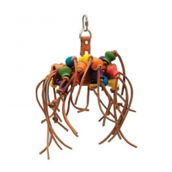 Penn Plax Bird Life Leather-Kabob Toy for Parrots Image