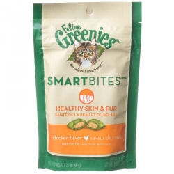 Greenies SmartBites Healthy Skin & Fur Cat Treats - Chicken Flavor Image