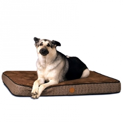 K&H Superior Orthopedic Bed - Mocha / Paw Bone Image