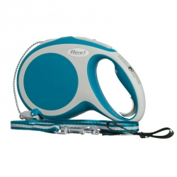 Flexi Vario Retractable Cord Leash - Turquoise Image