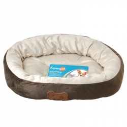 Aspen Pet Oval Nesting Pet Bed - Brown Image